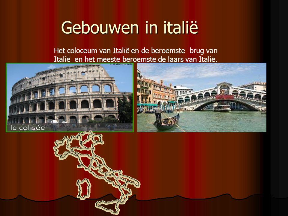 Gebouwen in italië Het coloceum van Italië en de beroemste brug van Italië en het meeste beroemste de laars van Italië.