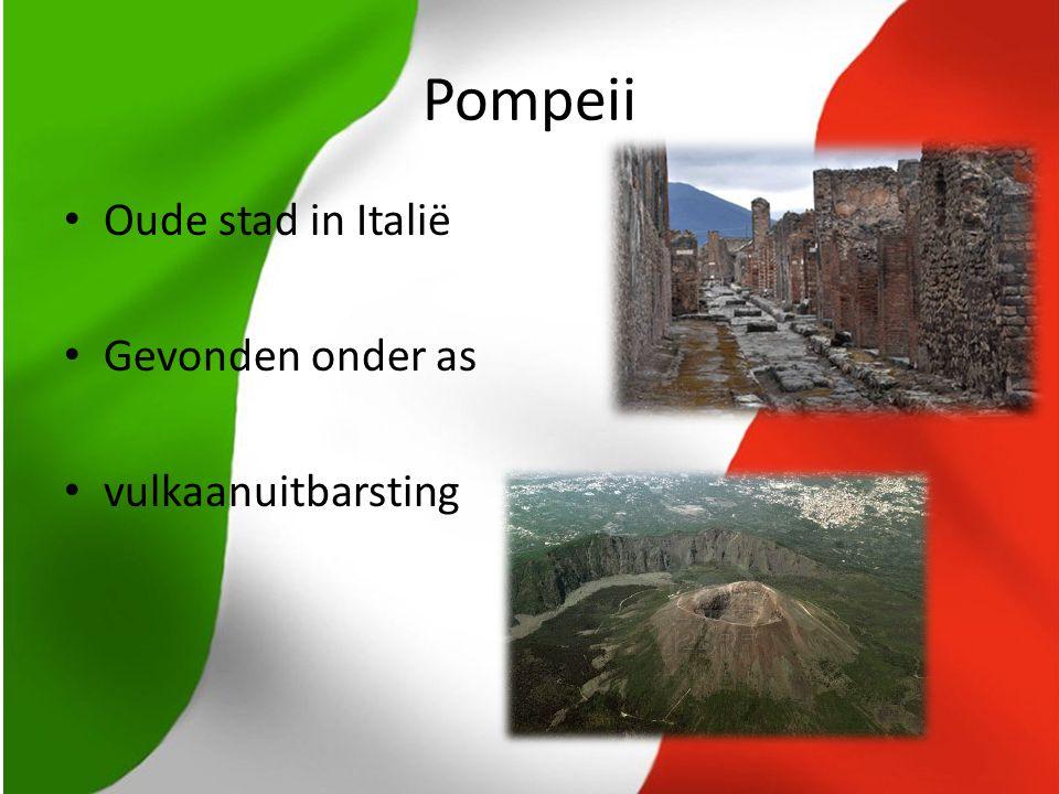 Pompeii Oude stad in Italië Gevonden onder as vulkaanuitbarsting