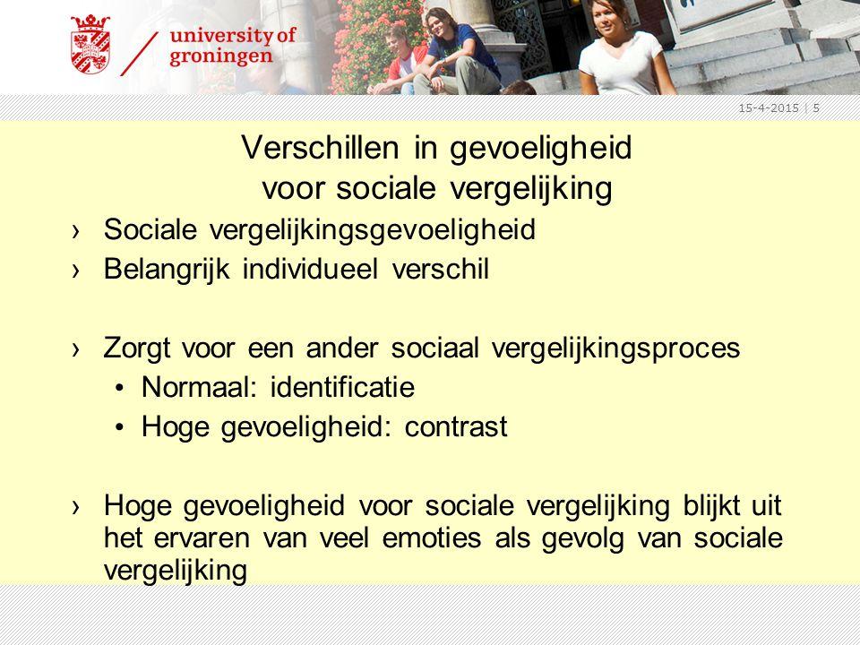 Verschillen in gevoeligheid voor sociale vergelijking