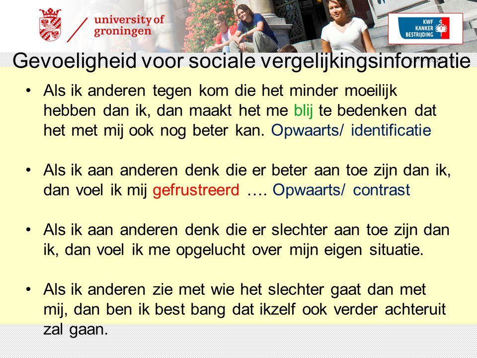 Gevoeligheid voor sociale vergelijkingsinformatie