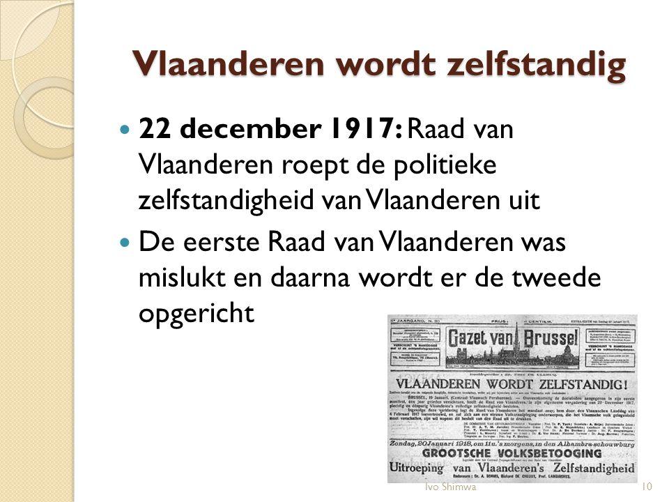 Vlaanderen wordt zelfstandig