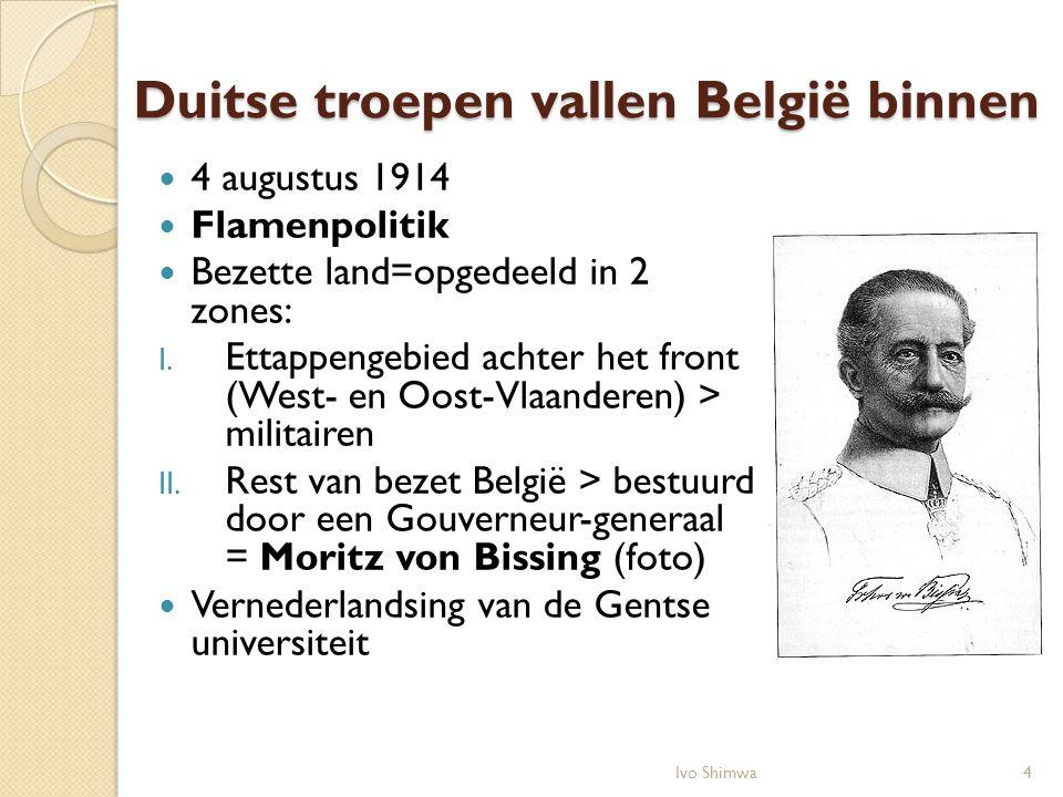Duitse troepen vallen België binnen