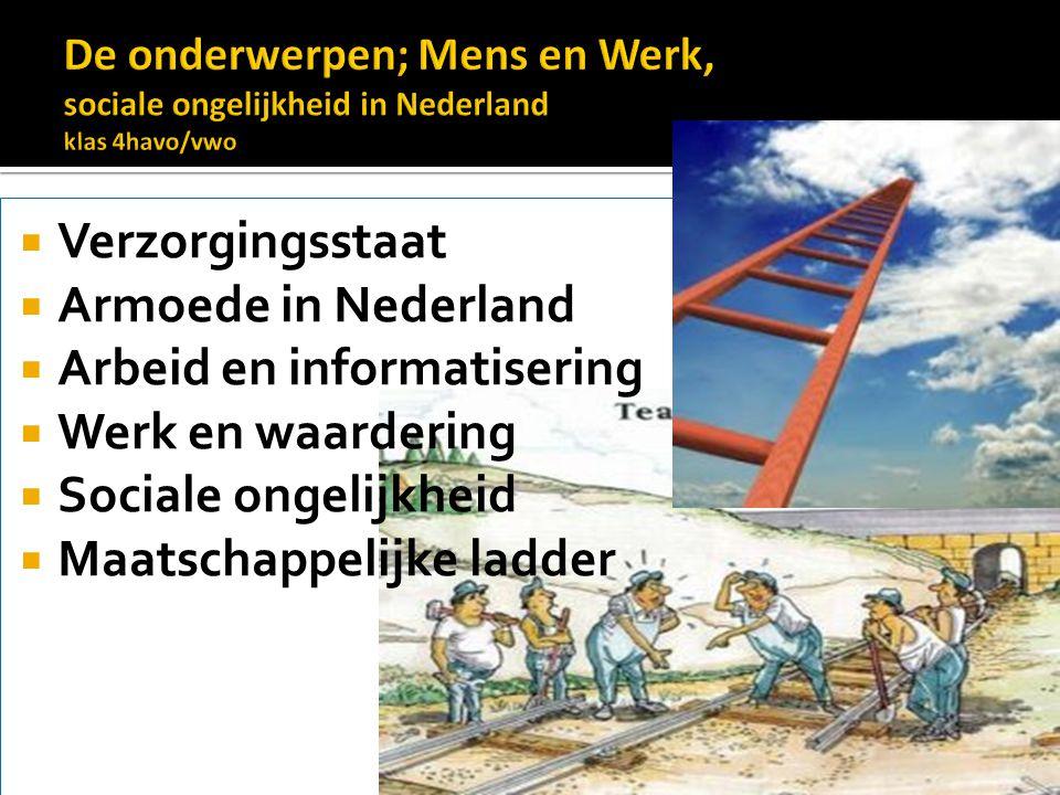 Arbeid en informatisering Werk en waardering Sociale ongelijkheid
