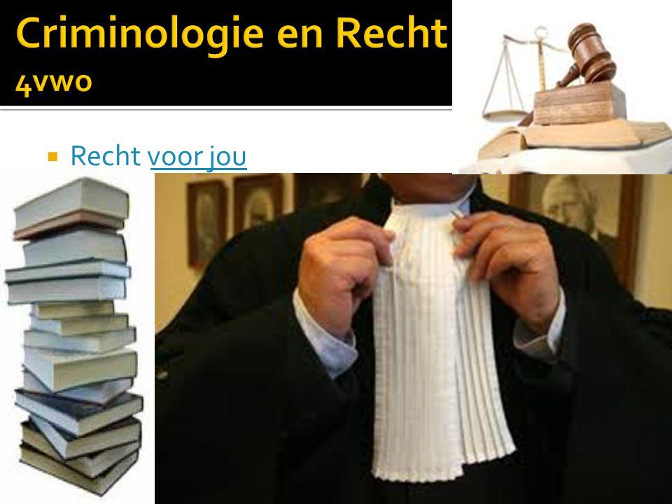 Criminologie en Recht 4vwo