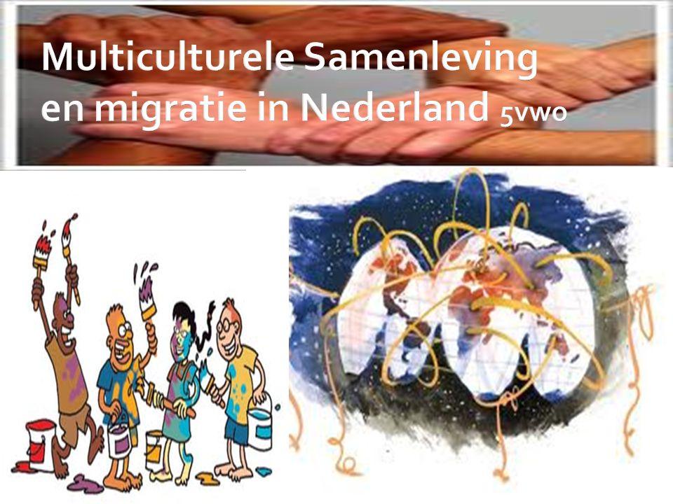 Multiculturele Samenleving en migratie in Nederland 5vwo