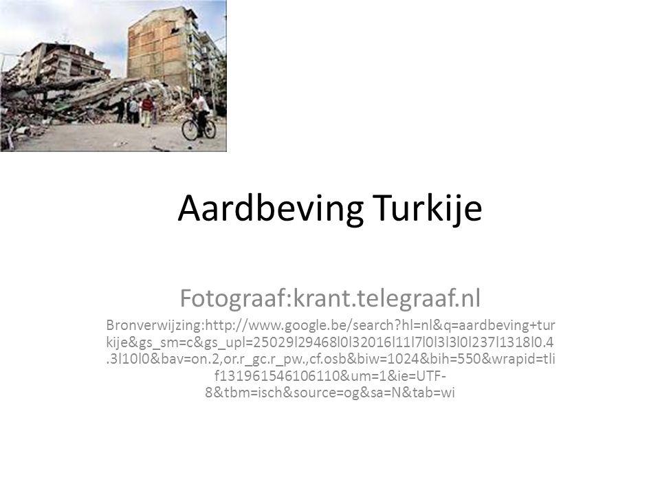 Aardbeving Turkije Fotograaf:krant.telegraaf.nl