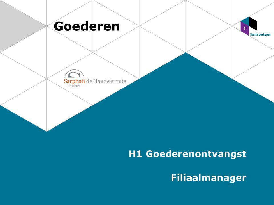 Goederen H1 Goederenontvangst Filiaalmanager