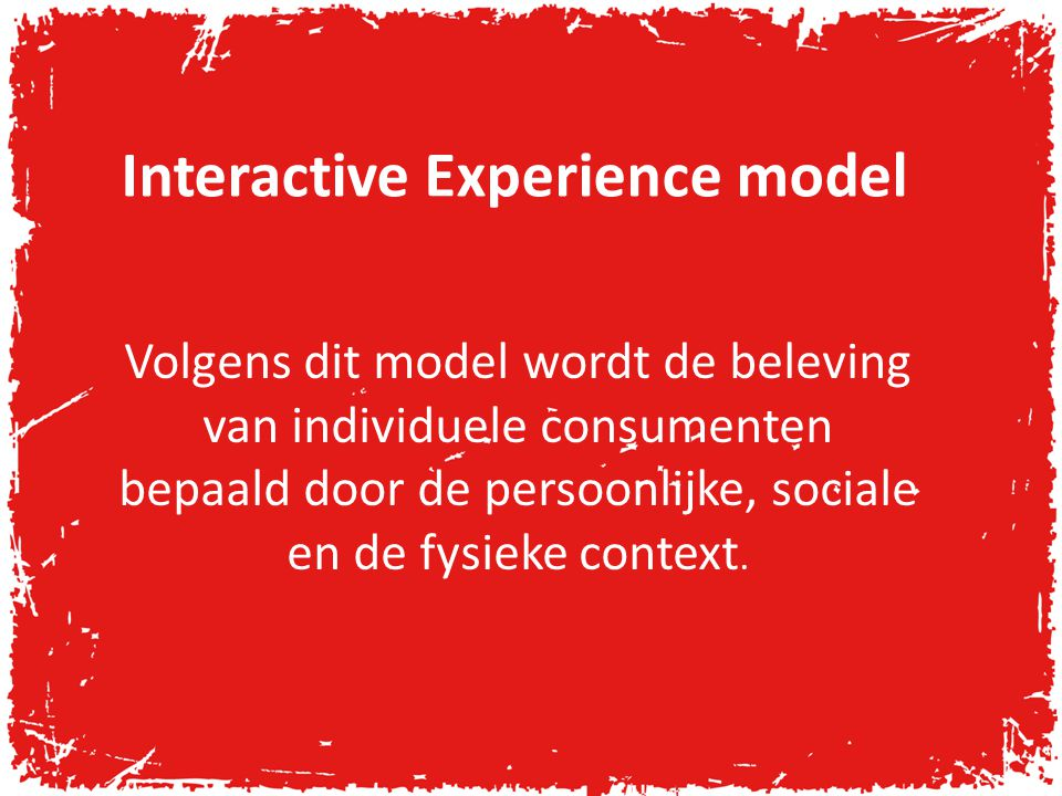Interactive Experience model