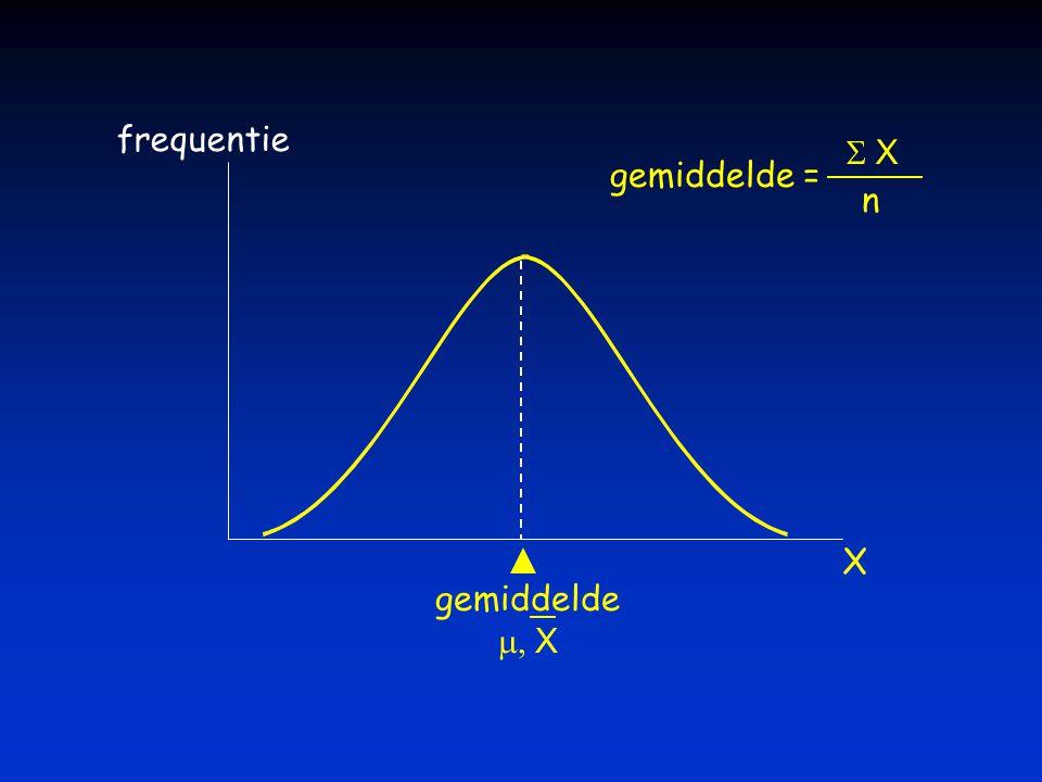 frequentie gemiddelde = S X n X gemiddelde m, X