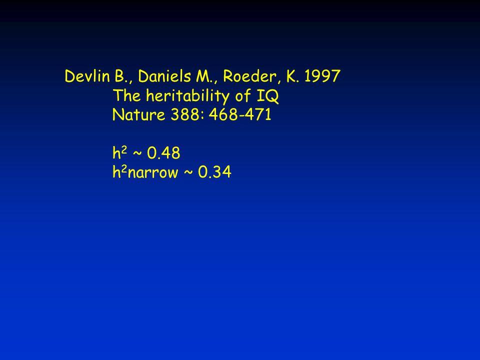Devlin B., Daniels M., Roeder, K. 1997