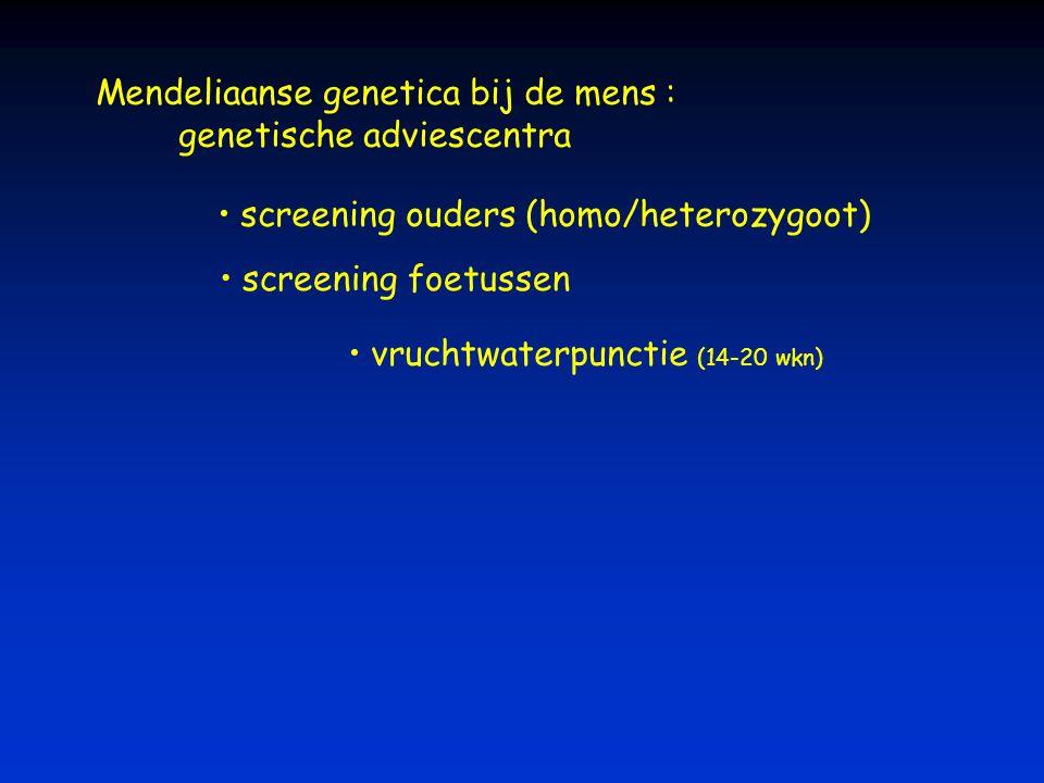 Mendeliaanse genetica bij de mens : genetische adviescentra