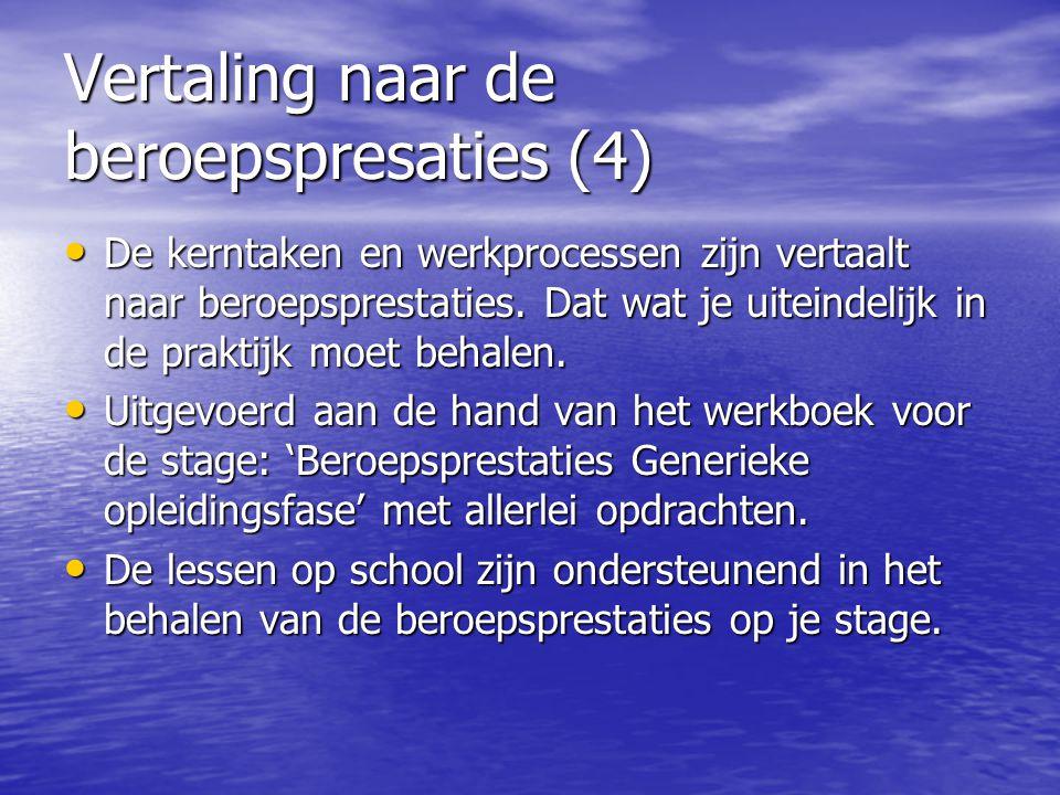 Vertaling naar de beroepspresaties (4)
