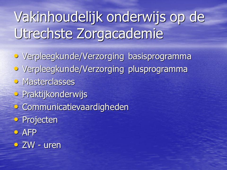 Vakinhoudelijk onderwijs op de Utrechste Zorgacademie