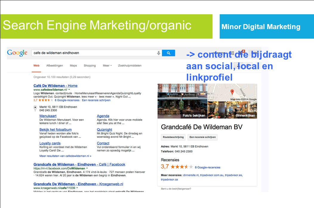 Search Engine Marketing/organic