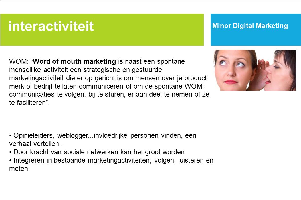 interactiviteit Minor Digital Marketing