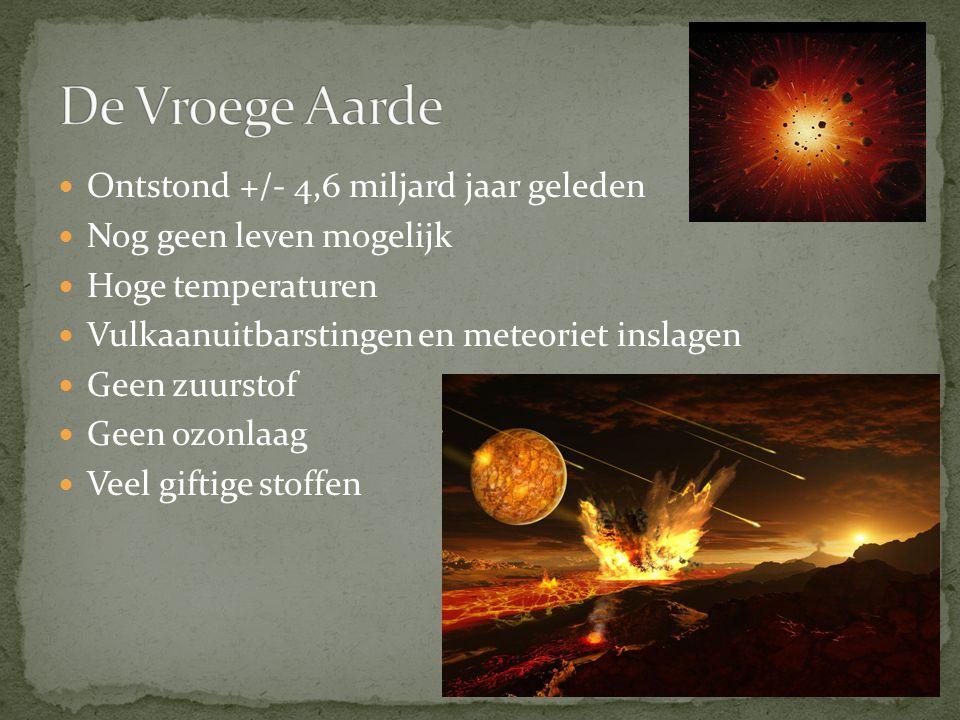 De Vroege Aarde Ontstond +/- 4,6 miljard jaar geleden