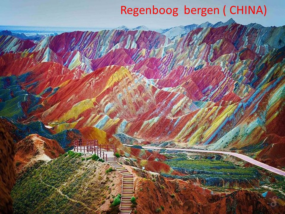 Regenboog bergen ( CHINA)