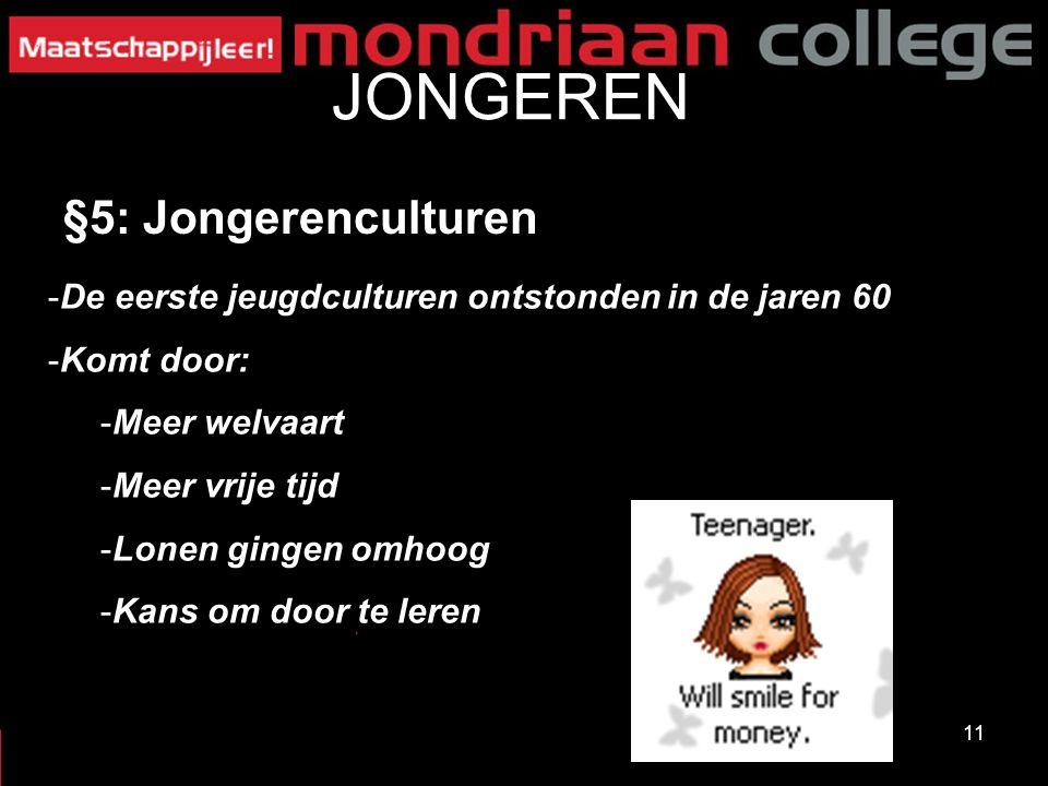 JONGEREN §5: Jongerenculturen