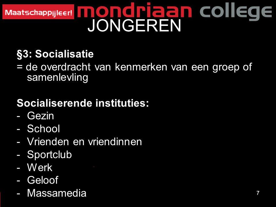 JONGEREN §3: Socialisatie