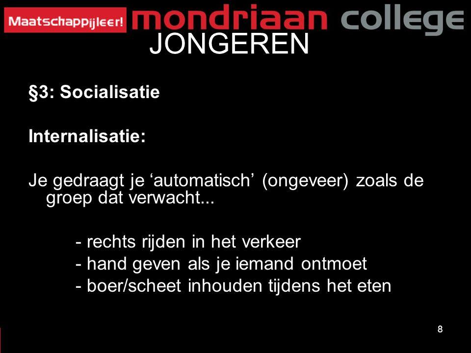 JONGEREN §3: Socialisatie Internalisatie:
