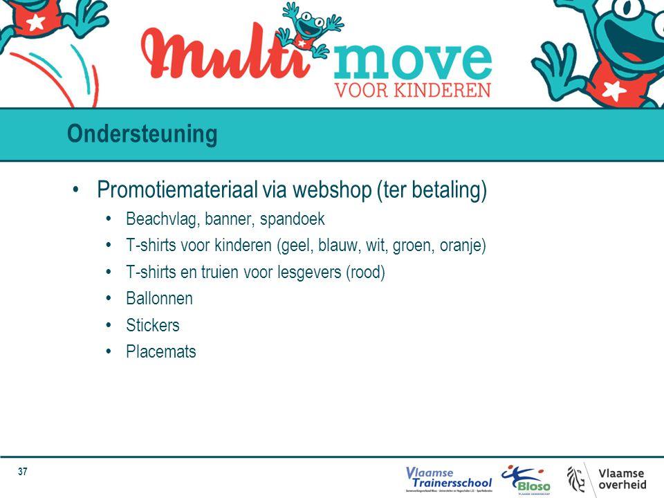 Ondersteuning Promotiemateriaal via webshop (ter betaling)