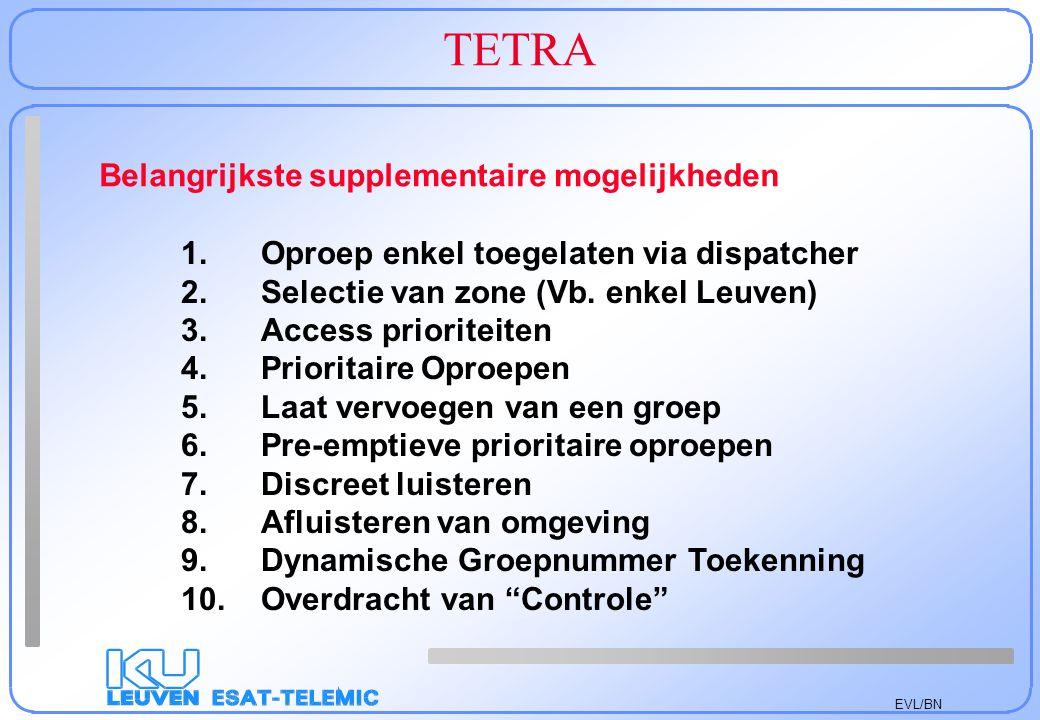 TETRA Belangrijkste supplementaire mogelijkheden