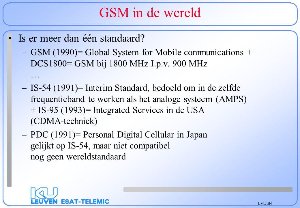 GSM in de wereld Is er meer dan één standaard
