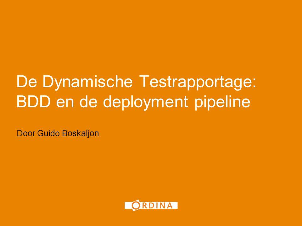 De Dynamische Testrapportage: BDD en de deployment pipeline