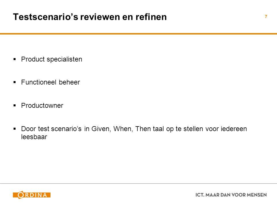 Testscenario's reviewen en refinen