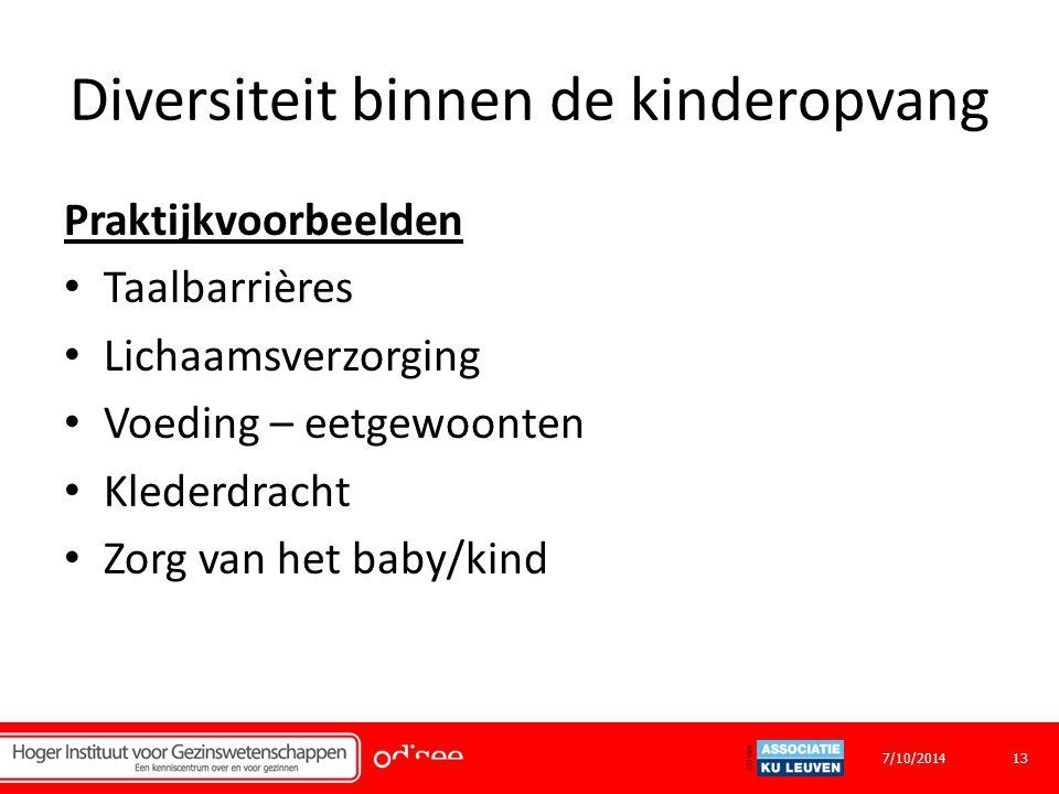 Diversiteit binnen de kinderopvang