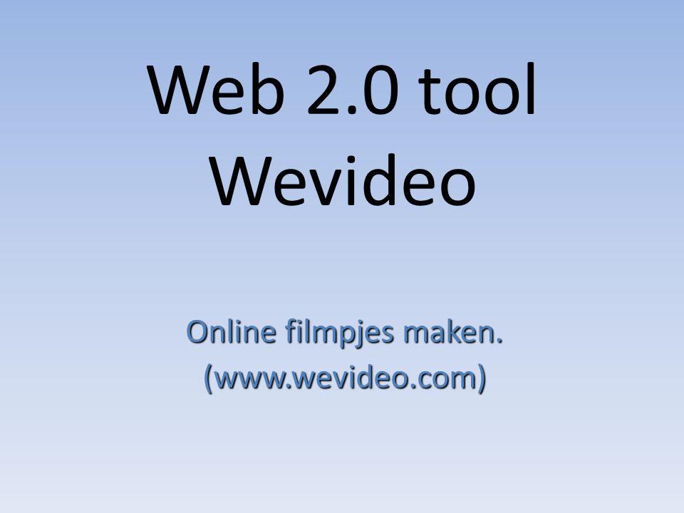 Online filmpjes maken. (www.wevideo.com)