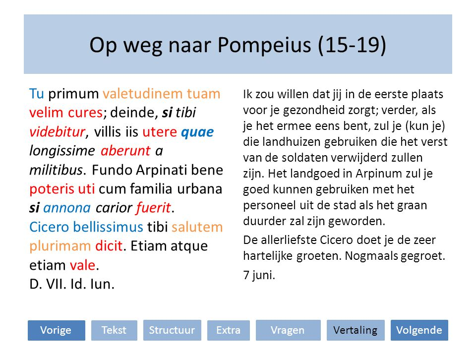 Op weg naar Pompeius (15-19)