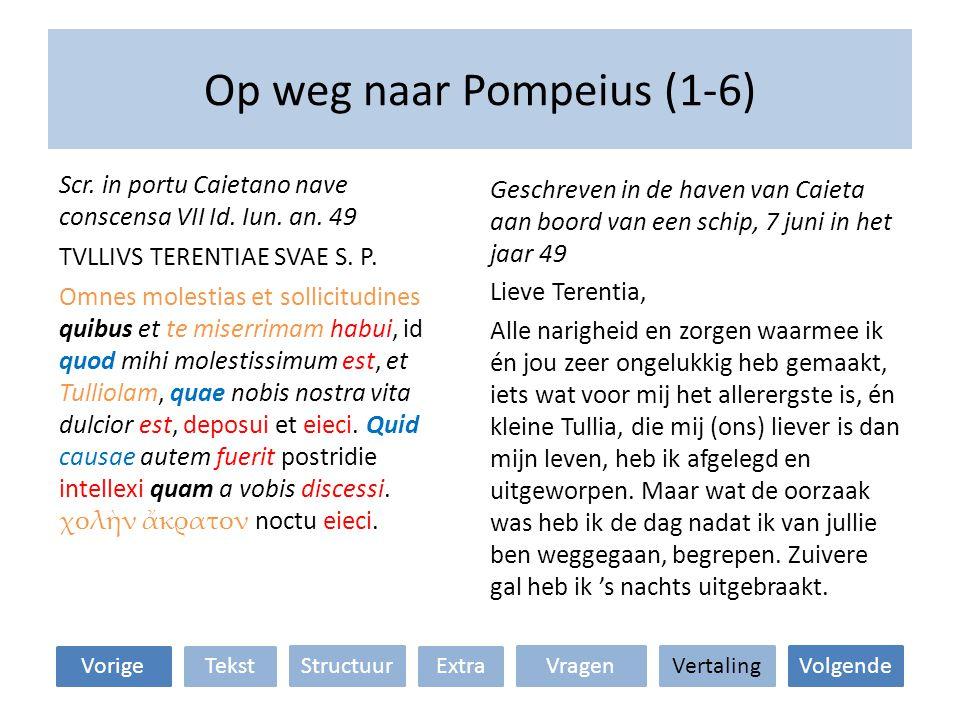 Op weg naar Pompeius (1-6)