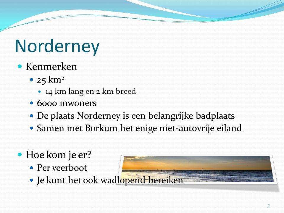 Norderney Kenmerken Hoe kom je er 25 km2 6000 inwoners