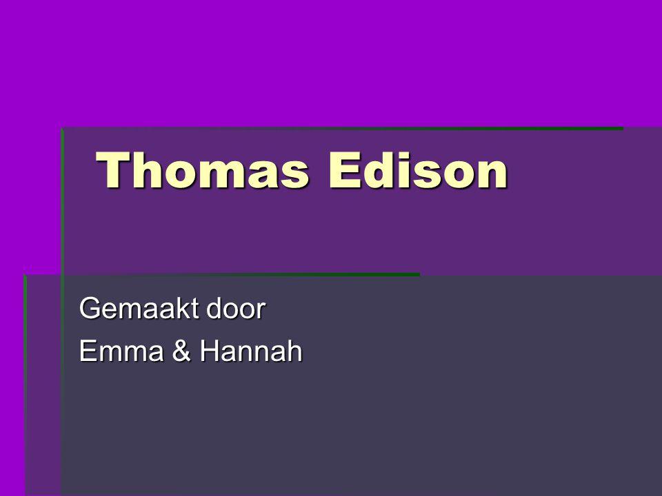 Gemaakt door Emma & Hannah