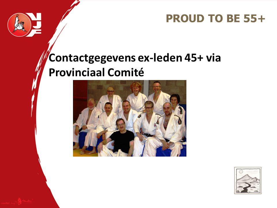 Contactgegevens ex-leden 45+ via Provinciaal Comité