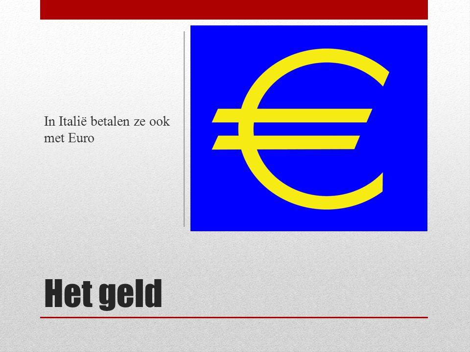 In Italië betalen ze ook met Euro