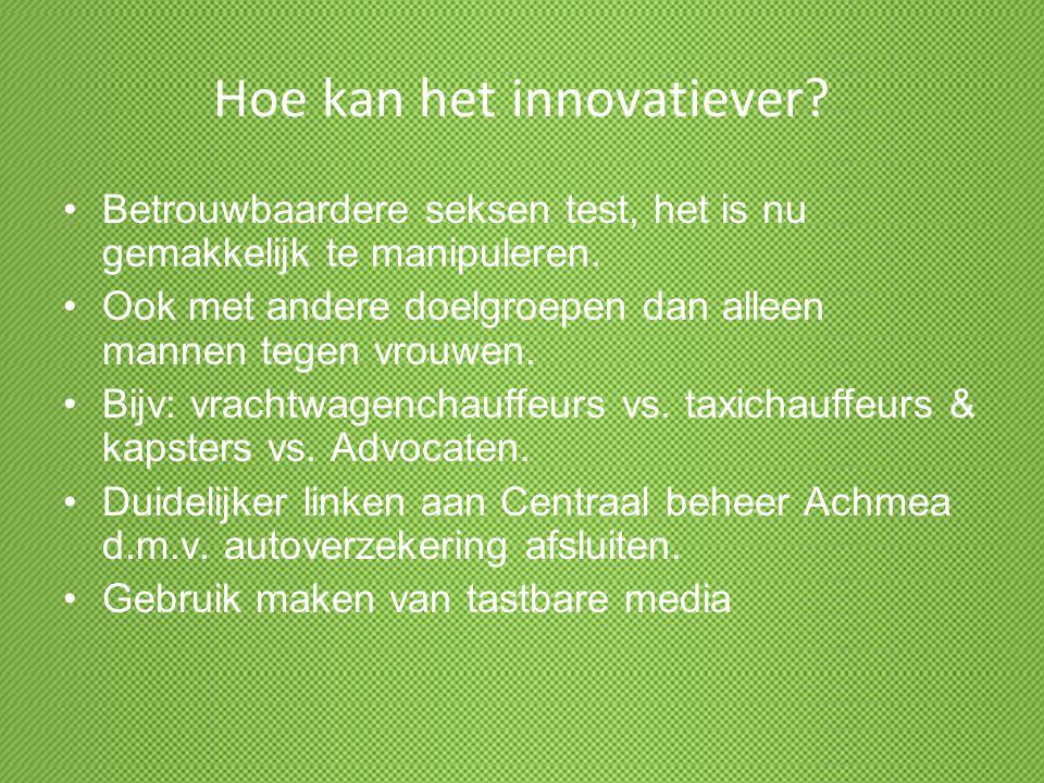 Hoe kan het innovatiever