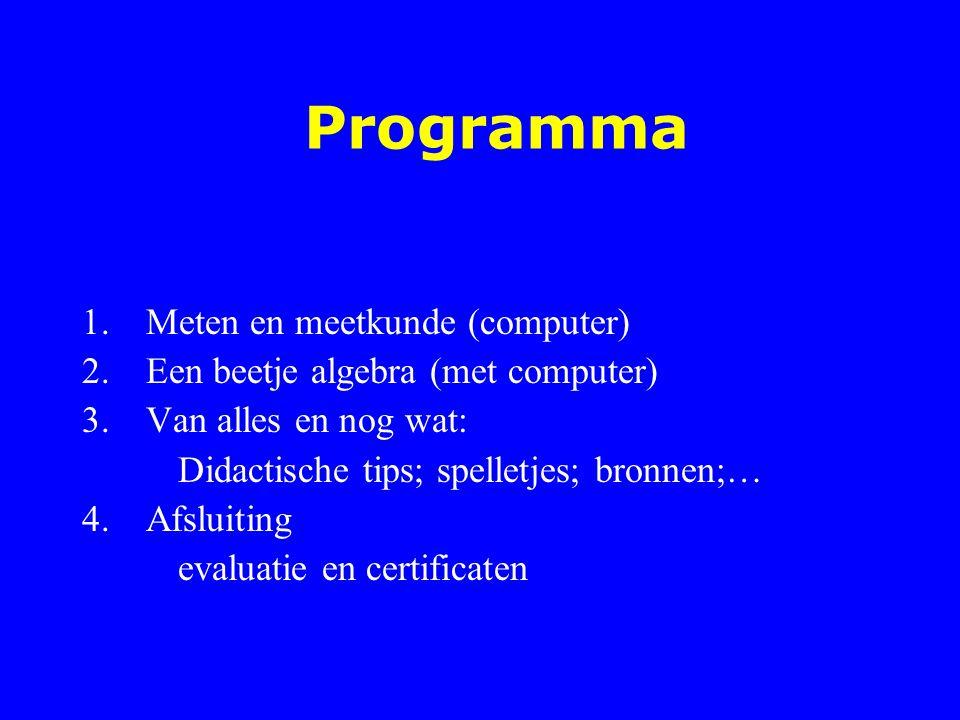 Programma Meten en meetkunde (computer)