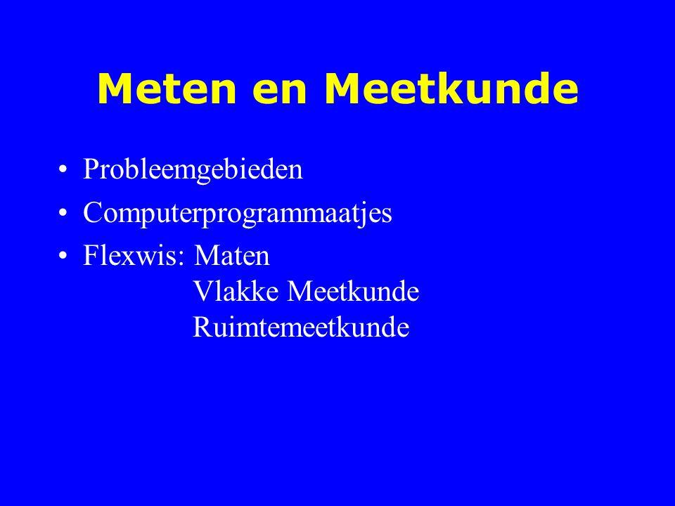 Meten en Meetkunde Probleemgebieden Computerprogrammaatjes