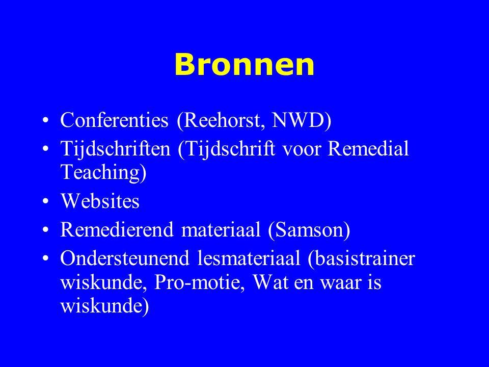 Bronnen Conferenties (Reehorst, NWD)