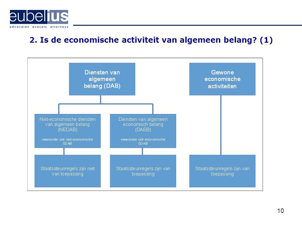 2. Is de economische activiteit van algemeen belang (1)
