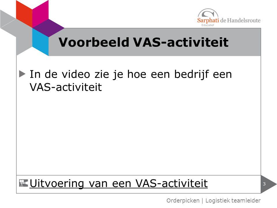 Voorbeeld VAS-activiteit