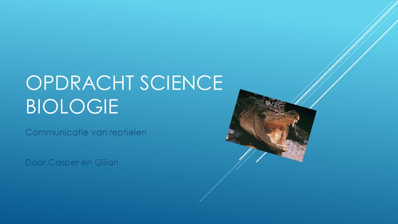 Opdracht science biologie