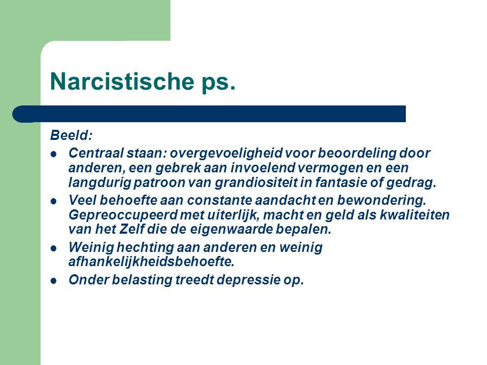 Narcistische ps. Beeld: