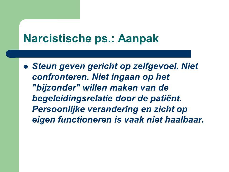 Narcistische ps.: Aanpak