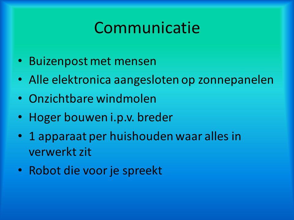 Communicatie Buizenpost met mensen