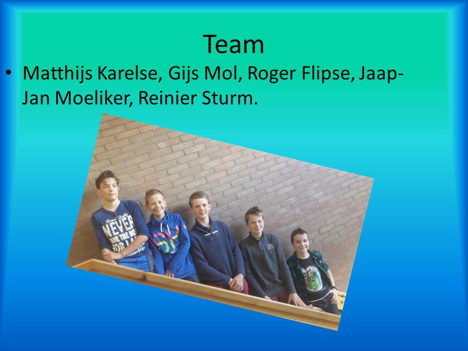 Team Matthijs Karelse, Gijs Mol, Roger Flipse, Jaap-Jan Moeliker, Reinier Sturm.