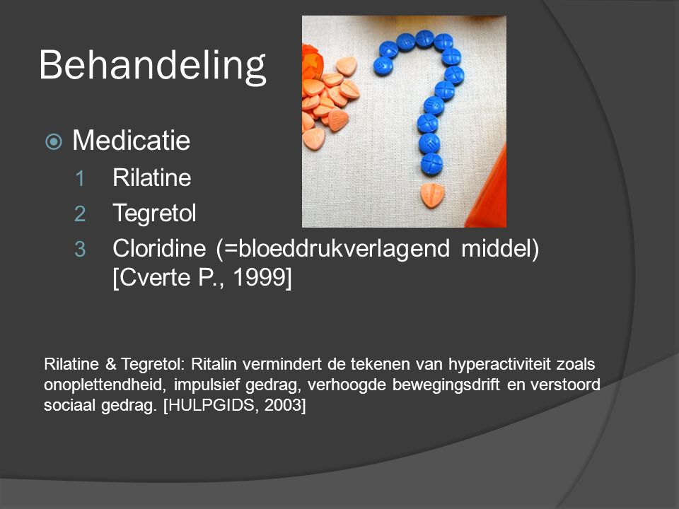 Behandeling Medicatie Rilatine Tegretol