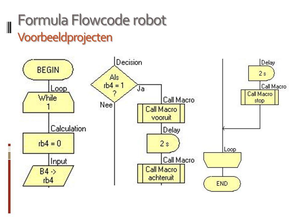Formula Flowcode robot Voorbeeldprojecten